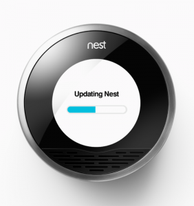 Nest thermostat is updating